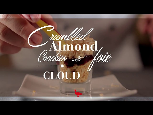 CRUMBLED ALMOND COOKIES WITH FOIE CLOUD