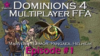 Dominions 4 Multiplayer | Early Age 4p FFA | Episode 1 Turns 1-4