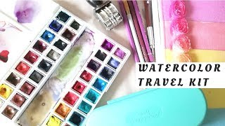 Watercolor Travel Kit- Which Art Supplies Did I Take??