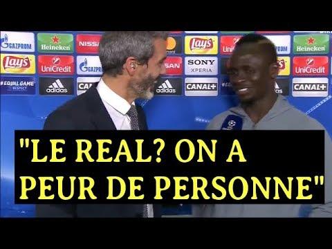 """La réaction de SADIO MANE après la qualification de Liverpool en finale """"LE REAL EST LA...."""""""
