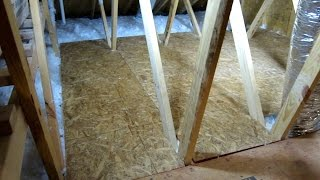Easy Do It Yourself Storage Space In Your Attic Part 2