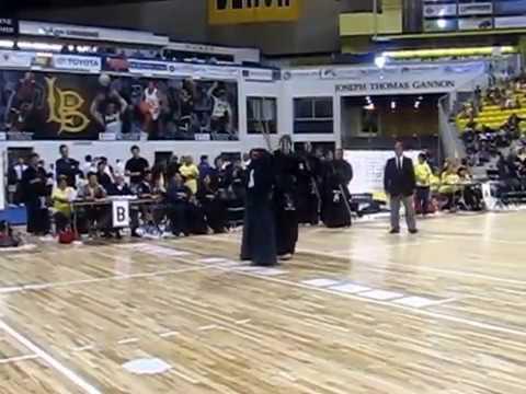 Kendo 2014 Nikkei Games Kachinuki Team: CMKD v GED -- 2 vs 3