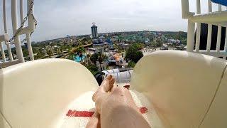 Wet 'n Wild Orlando - Der Stuka | Extreme Free Fall Water Slide Onride POV