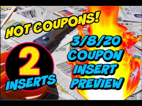 3/8/20 COUPON INSERT PREVIEW | 2 INSERTS & SOME GREAT COUPONS!
