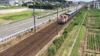 名古屋市営地下鉄N3000形甲種輸送 幸田町 深溝跨線橋通過