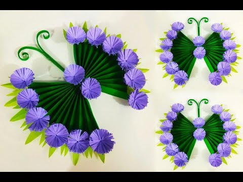 DIY Paper Butterfly Wall Hanging | Wall Decor Idea | Make a Wall Hanging With Paper Flower