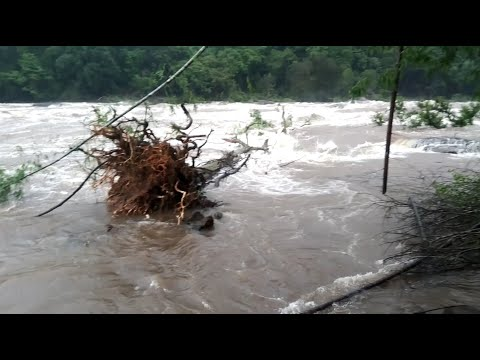 Water Rises in Chalakudy River, Kerala    Heavy Monsoon Rain.