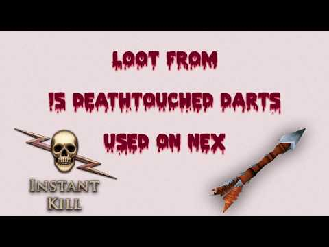 Loot from 15 deathtouched darts used on nex - Runescape 3 - RS3