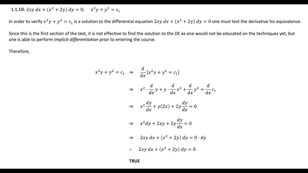 5 1 1 18 first course differential equations solution manual youtube rh youtube com differential equation solution manual roberto differential equations solution manual blanchard devaney