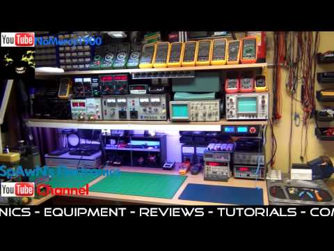 My electronics workbench updated and YouTube Trailer Video