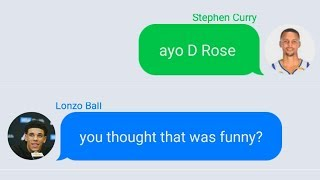 Stephen Curry Texting Lonzo Ball After Injury and Roasts Lavar Ball