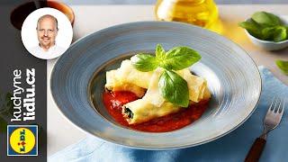 Cannelloni se špenátem, kešu a rajčatovou omáčkou - Roman Paulus - RECEPTY KUCHYNĚ LIDLU