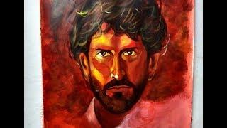 Painting Hrithik Roshan | Super 30 | Movie poster