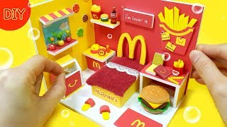 [DIY Miniature dollhouse Room ! -  McDonald's room decor ~