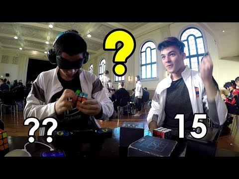 When WORLD RECORD Holders Meet - Blindfolded Speedcubing 😮 (feat. Max Hilliard)