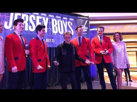 Jersey Boys & Frankie Valli Atlantic City performance & press conference 2-8-19