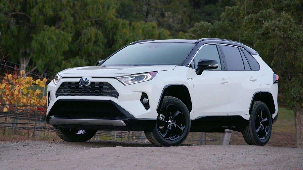 2019 Toyota Rav4 Xle Hybrid Blizzard Pearl Youtube
