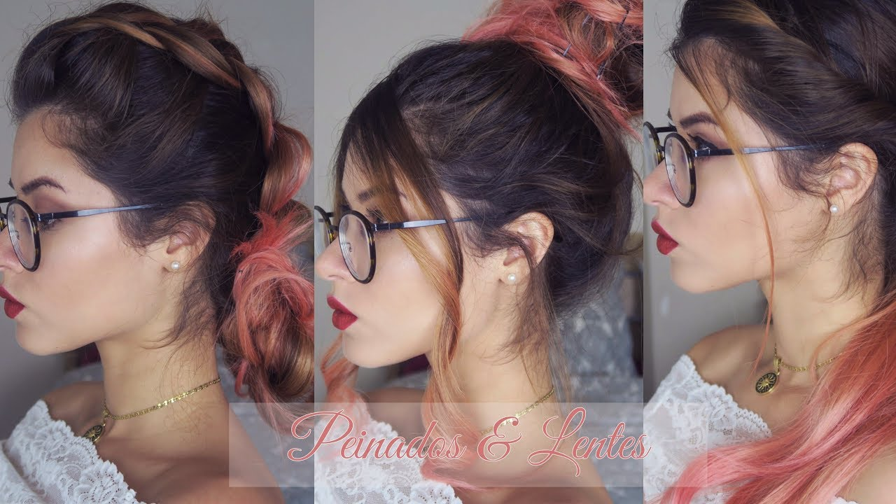 4129d03443 PEINADOS FACILES PARA PERSONAS CON GAFAS | Easy hairstyle for people with  glasses | MissChameleonn