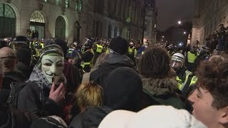 Anti-capitalist Million Mask March protesters gather in London