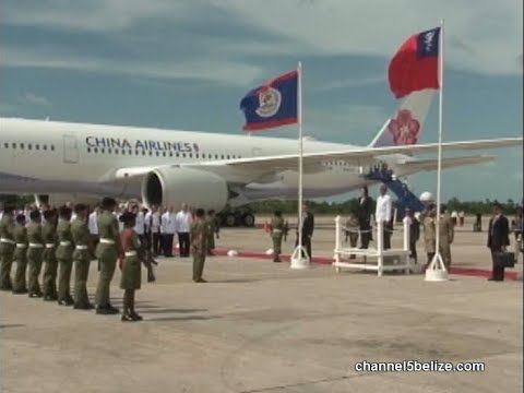 Taiwanese President Tsai Ing-wen Arrives in Belize