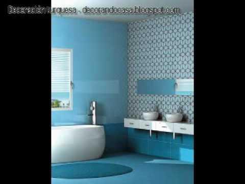 Decoraci n en color turquesa de salas rec maras y cocinas for Paredes azul turquesa
