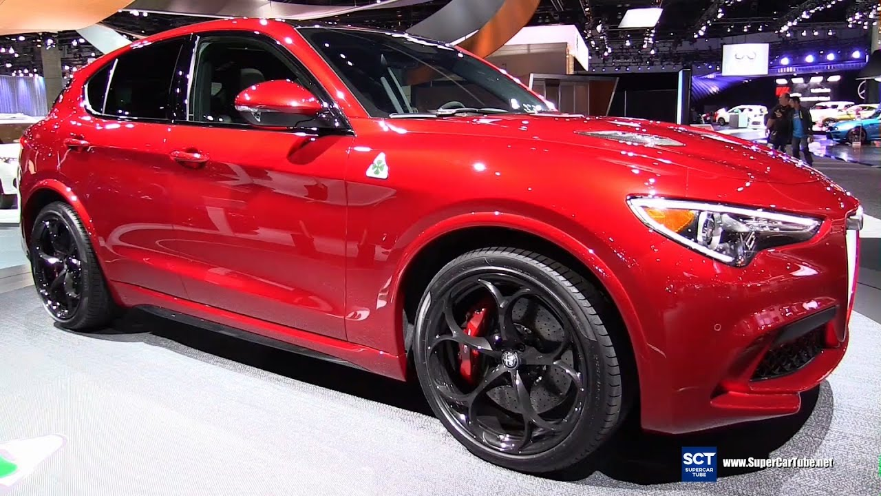 2018 Alfa Romeo Stelvio Suv Exterior And Interior Walkaround World Premier At 2016 La Auto Show
