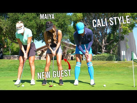 OH MAIYA GOODNESS...SHE IS GOOD AT GOLF!