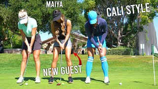 A NEW GUEST ON THE CHANNEL!/A FRIENDLY 9 HOLE GOLF MATCH!/GOLF VLOG 2019