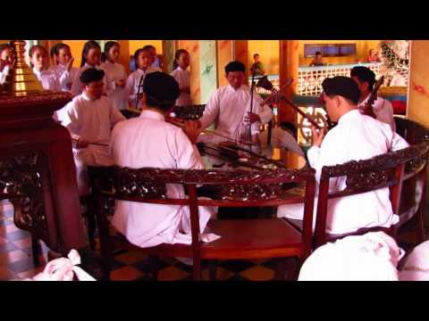 17102012 CAO DAI celebration in Tay Ninh, Vietnam. Travel Video