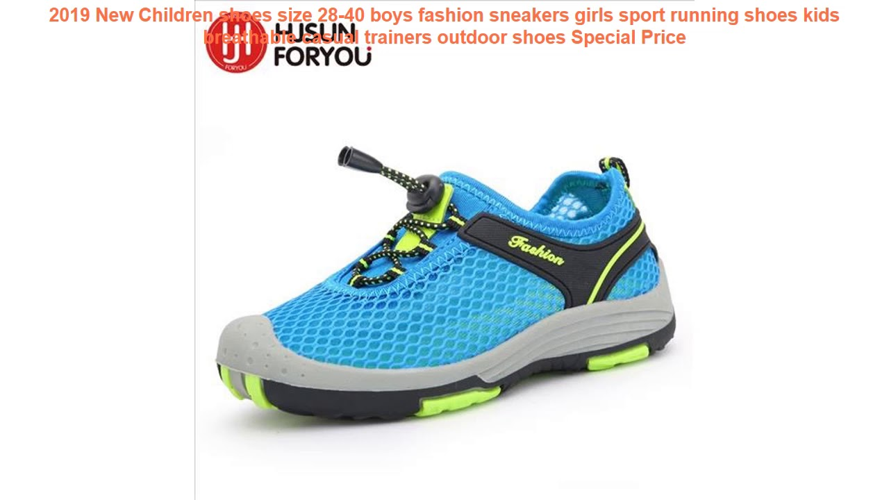 Children Boys Sports Running Athletic Sneaker Shoes Trainers Jogger Casual 28-40