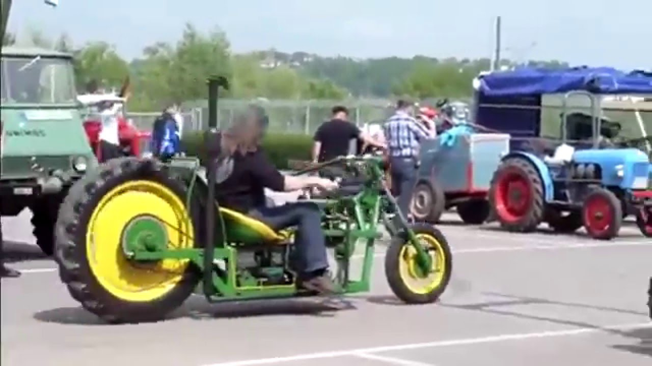Big Motor John Deere Chopper Youtube