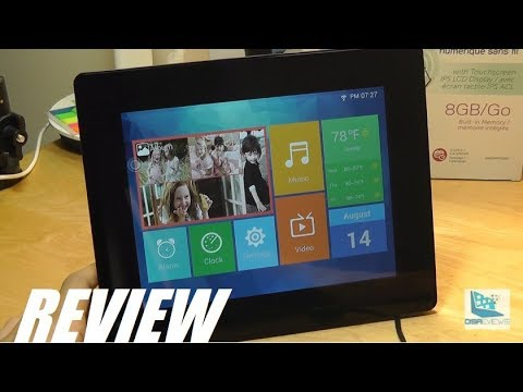 Review Aluratek 8 Wi Fi Cloud Digital Photo Frame Touch Youtube