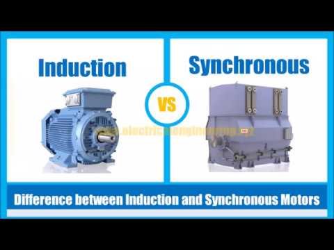 Difference between Induction and Synchronous Motor | Sychronous Motor VS  Induction Motor