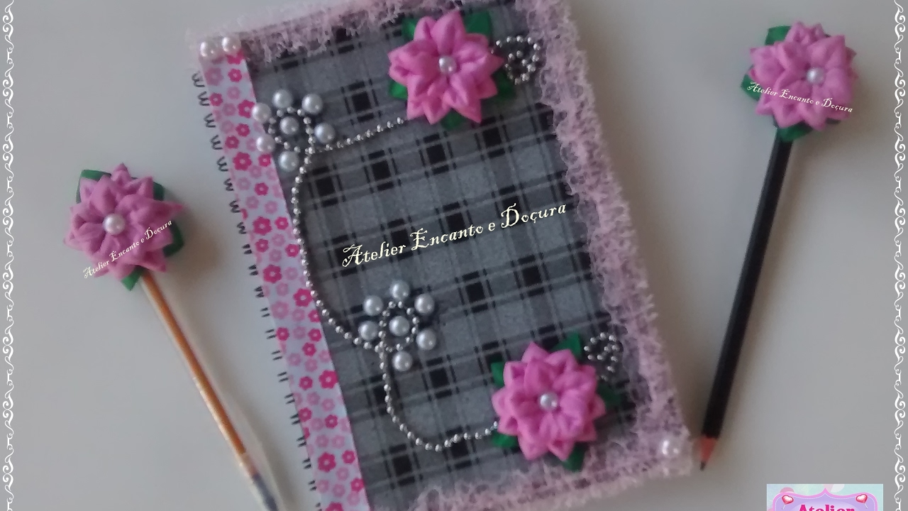 Diy como decorar a agenda com flores de e v a youtube - Como decorar una agenda ...