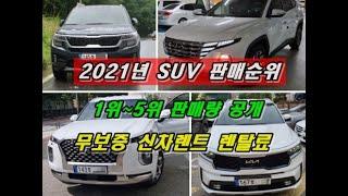 국산차 SUV 판매순위 판매량 공개 유종별 장기렌트 최…