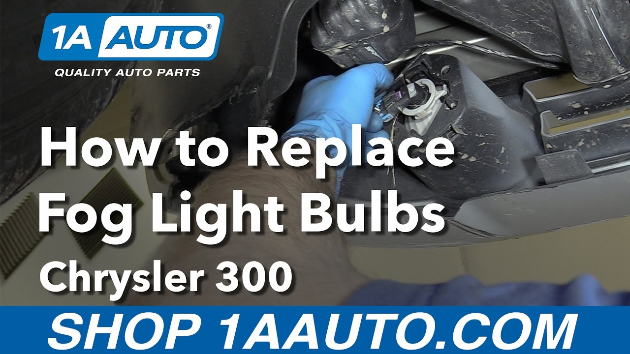hight resolution of how to replace fog light bulbs 05 10 chrysler 300 youtubechrysler 300 fog light wiring
