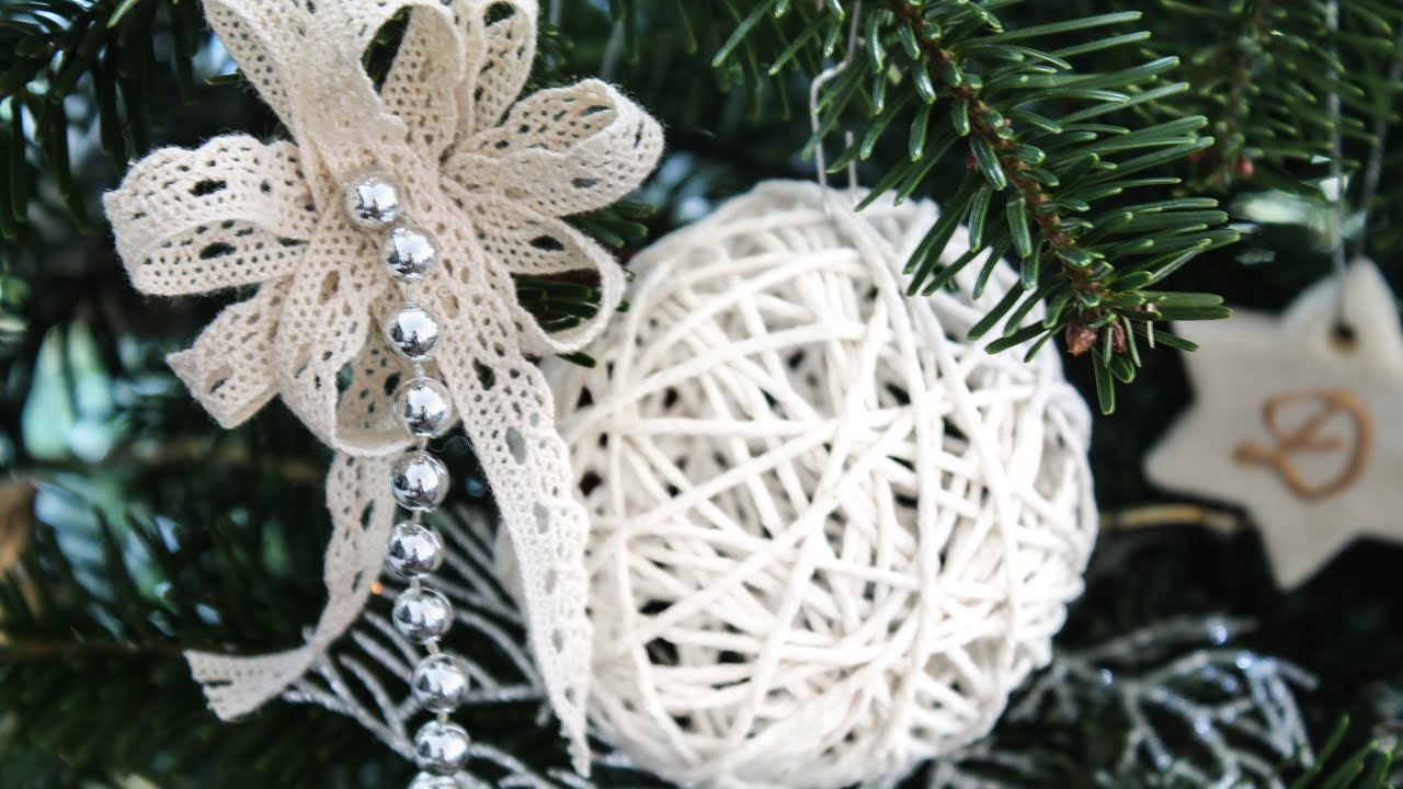 Yarn Balls For Christmas | DIY Rustic Christmas Decorations   YouTube