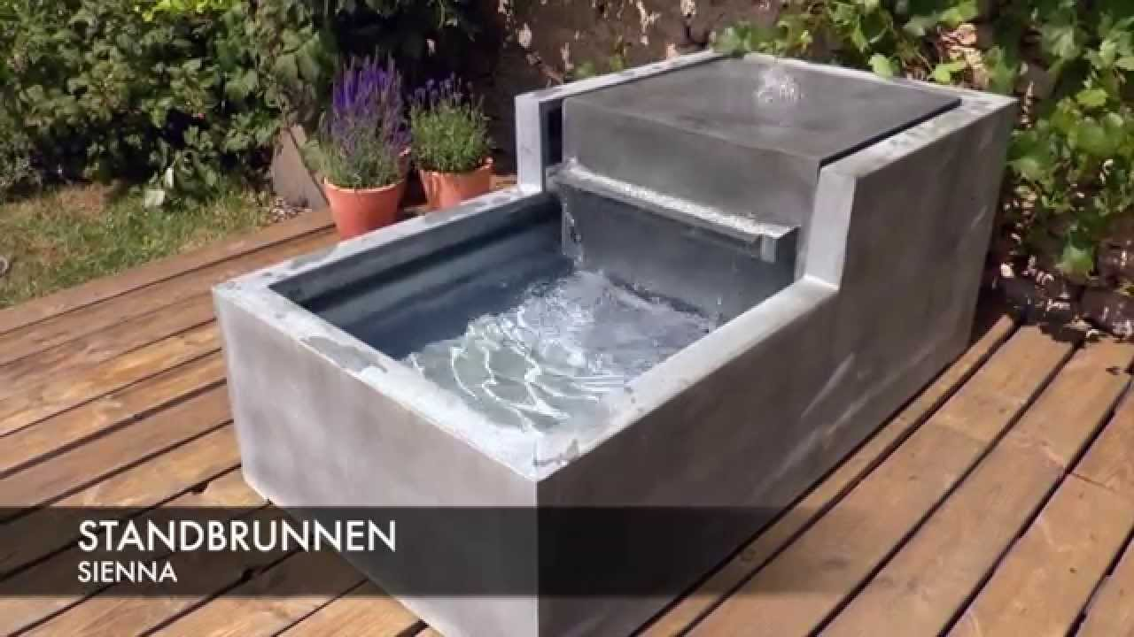 zinkbrunnen gartenbrunnen sienna youtube. Black Bedroom Furniture Sets. Home Design Ideas