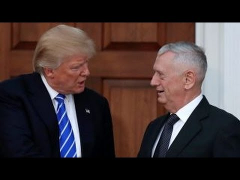 Trump to officially nominate Mattis as secretary of defense