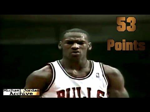 Michael Jordan 53 POINTS vs Portland Trail Blazers! 1987 (G.O.A.T)