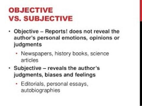 subjective examples
