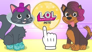 🐶 BABY PETS 🐱 Kira the Cat and Max the Dog dress up as LOL Surprise Pets | Cartoons for Children