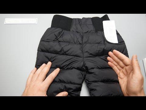 Детские зимние штаны из плащевки 🔴 Тёплые зимние детские штаны для мальчиков и девочек с Aliexpress