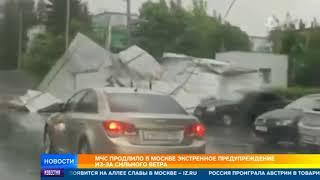 МЧС продлило в Москве экстренное предупреждение из-за сильного ветра