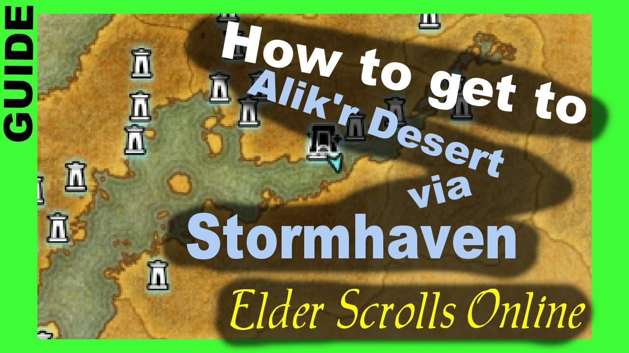 How to get to Alik'r Desert via Stormhaven [Elder Scrolls Online ESO]