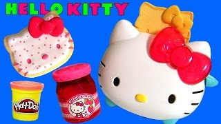 Play Doh Hello Kitty Toaster Waffle Toy  ハローキティ トースター  ❤  헬로 키티 토스터와 도넛 ❤  ハローキティ