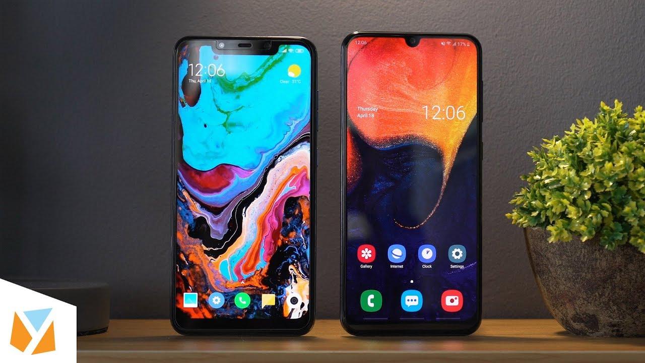 Samsung Galaxy A50 vs Pocophone F1 Comparison Review - YouTube