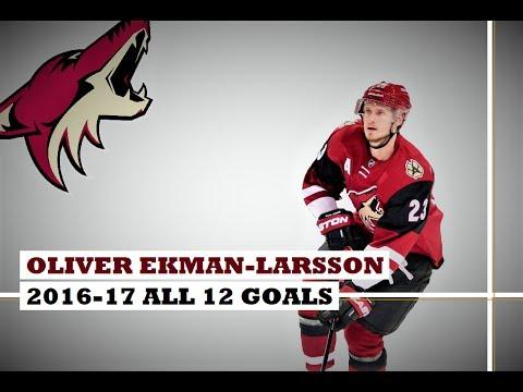 Oliver Ekman-Larsson (#23) ● ALL 12 Goals 2016-17 Season (HD)
