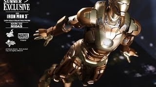 Iron Man 3 Hot Toys Mark XXI Midas Movie Masterpiece 1/6 Scale Collectible Figure Review