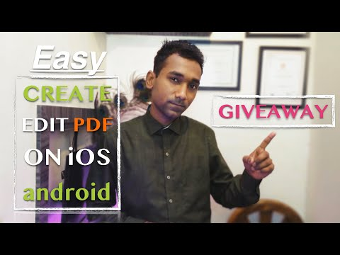 How to create and edit PDF on iOS and android easy 2019 | 💯 subscriber mark Giveaway | LumaFusion